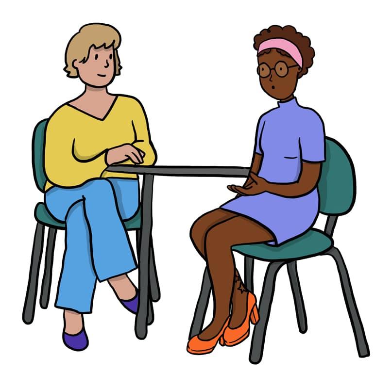Illustration consultation chez un gynecologue